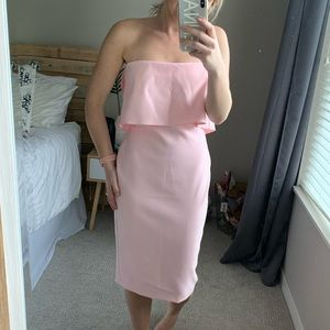 Likely strapless pink dress